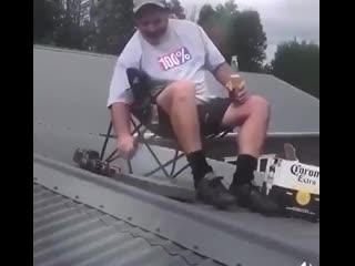 Когда сказал жене, что пошел чинить крышу