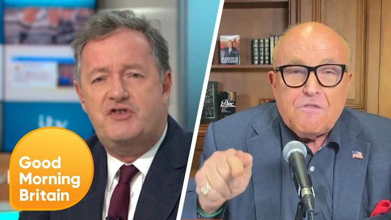 Piers and Rudy Giuliani Clash over Donald Trump's Tweets Good Morning Britain