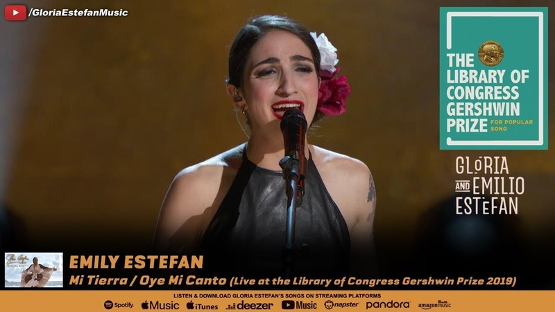 Emily Estefan Mi Tierra Oye Mi Canto Live at the Library of Congress Gershwin Prize 2019