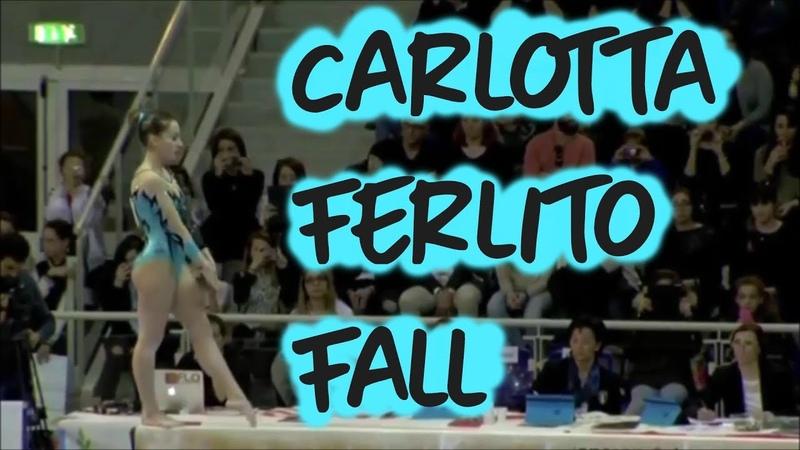 Carlotta Ferlito Scary Fall Jesolo 2016 Gymnastics