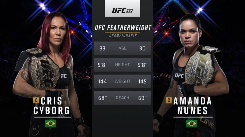 UFC 250 Free Fight Amanda Nunes vs Cris Cyborg