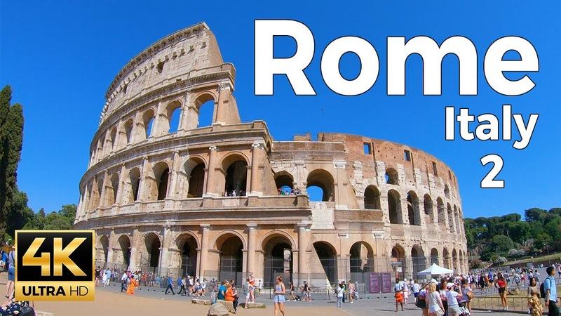 Rome Italy Walking Tour Part 2 4k Ultra HD 60fps