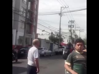 Первые кадры землетрясения в города Оахака (Мексика, 23 июня 2020).