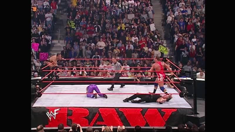 WWF Raw Is War 03.12.2001 - the Rock Trish Stratus vs Kurt Angle Vince McMahon