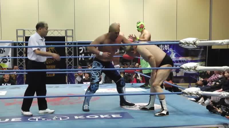 Jun Akiyama Mitsuya Nagai SUSHI vs Dan Tamura Masanobu Fuchi Takao Omori