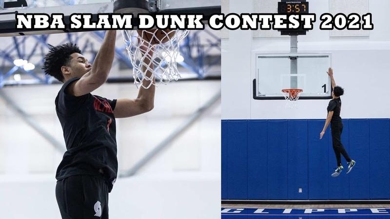 2021 NBA Dunk Contest Participant Anfernee Simons BEST DUNKS - CRAZY HOPS!