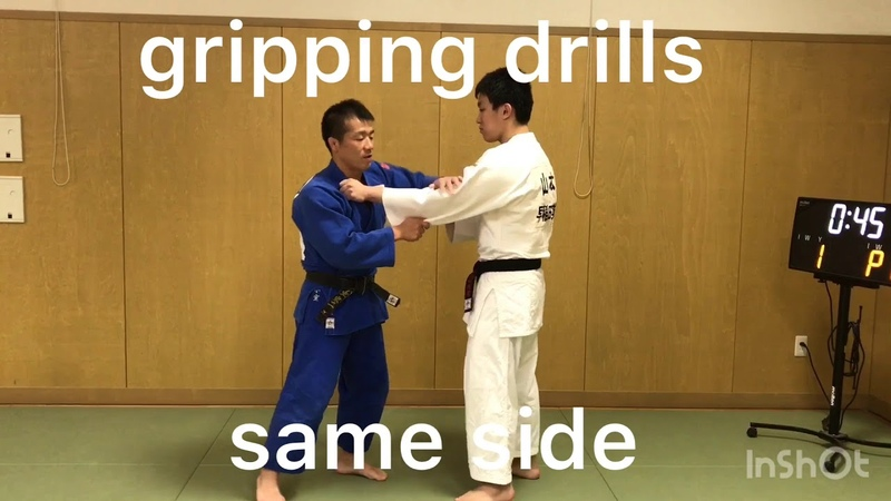 JUDO gripping drills same side