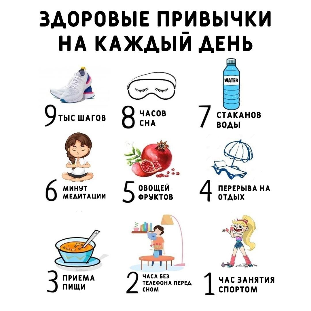 А сколько из этих привычек вы соблюдаете?