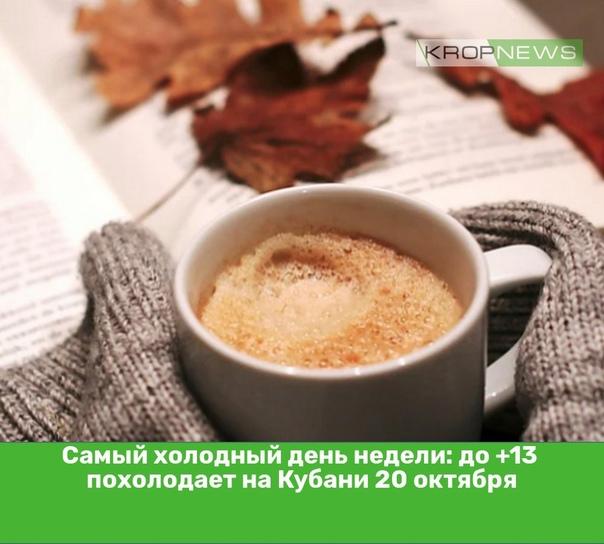Самый холодный день недели: до +13 похолодает на К...