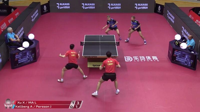 Ma Long Xu Xin vs Anton Kallberg Jon Persson 2020 ITTF Qatar Open Highlights R16
