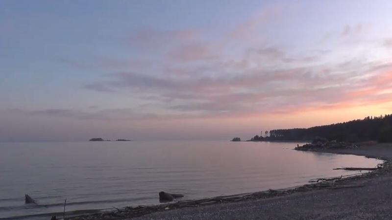 Обское море закат солца Новосибирск