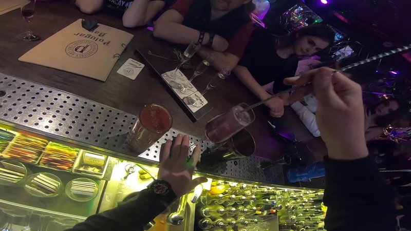 Коктейль Bloody Mary и Polugar spritz в Полугар баре Минск.