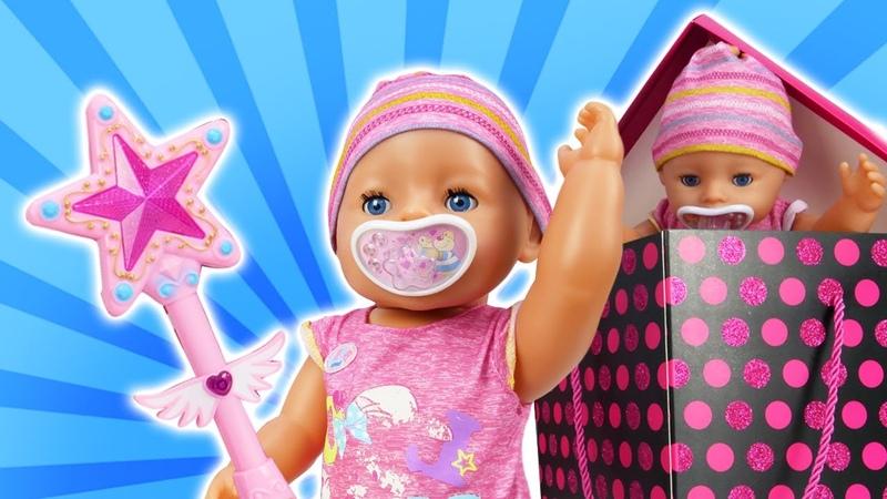 Spielzeug Video für Kinder. Die Baby Born Puppe und der Zauberstab.