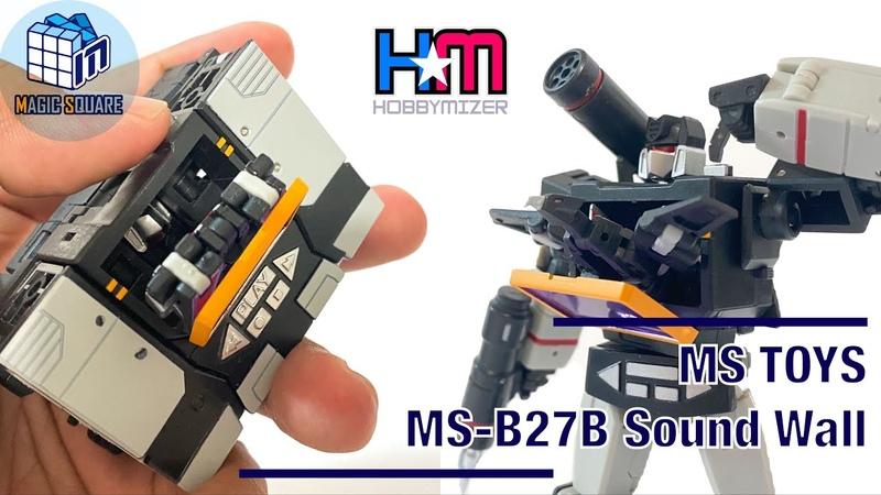 [粵語導航]魔方 傳奇級MP 黑音波 MS TOYS MS-B27B Sound Wall (black Soundwave) review