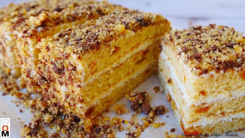Простой ТОРТ к ЧАЮ Любимчик simple CAKE recipe