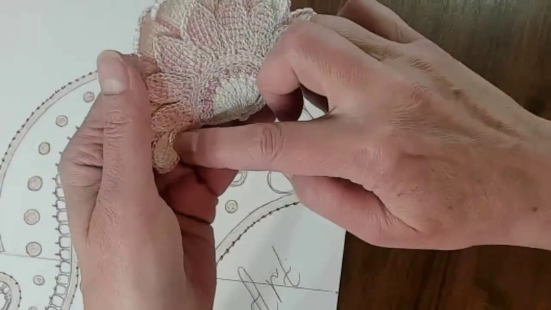 МК по ирландскому кружеву. Воротник Версаль.Урок 3. Irish crochet lace Tunisian crochet