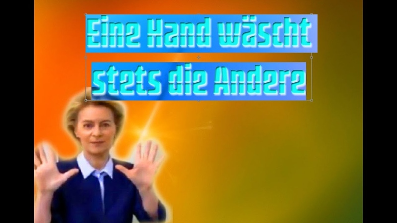 Eine Hand wäscht stets die Andere