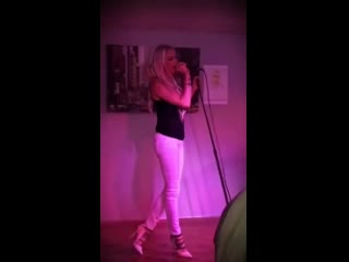 This was several years ago at my sister's Bachelorette party in Provo, UT. I get way more nervous to sing in front of family and