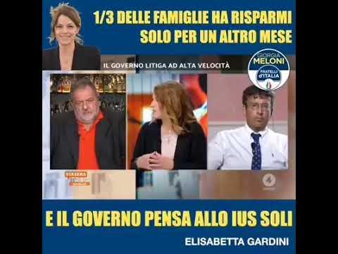 L'economia è in ginocchio e il governo Conte pensa allo Ius Soli Ascoltate Elisabetta Gardini