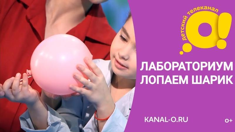 Лопаем шарик! Почему лопнул шарик Лабораториум. Маленькие исследователи | Детский канал О!