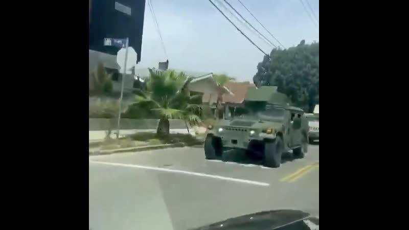 Лос-Анджелес. Национальная гвардия США передаёт привет Януковичу.