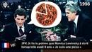 [VF] 1998 - JFK Jr lit le poème Je suis une pizza de Monica Lewinsky qu'elle a écrit à 9 ans