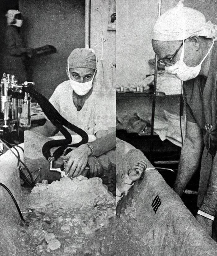 Травматический шок: ледяная вода и нейролептики