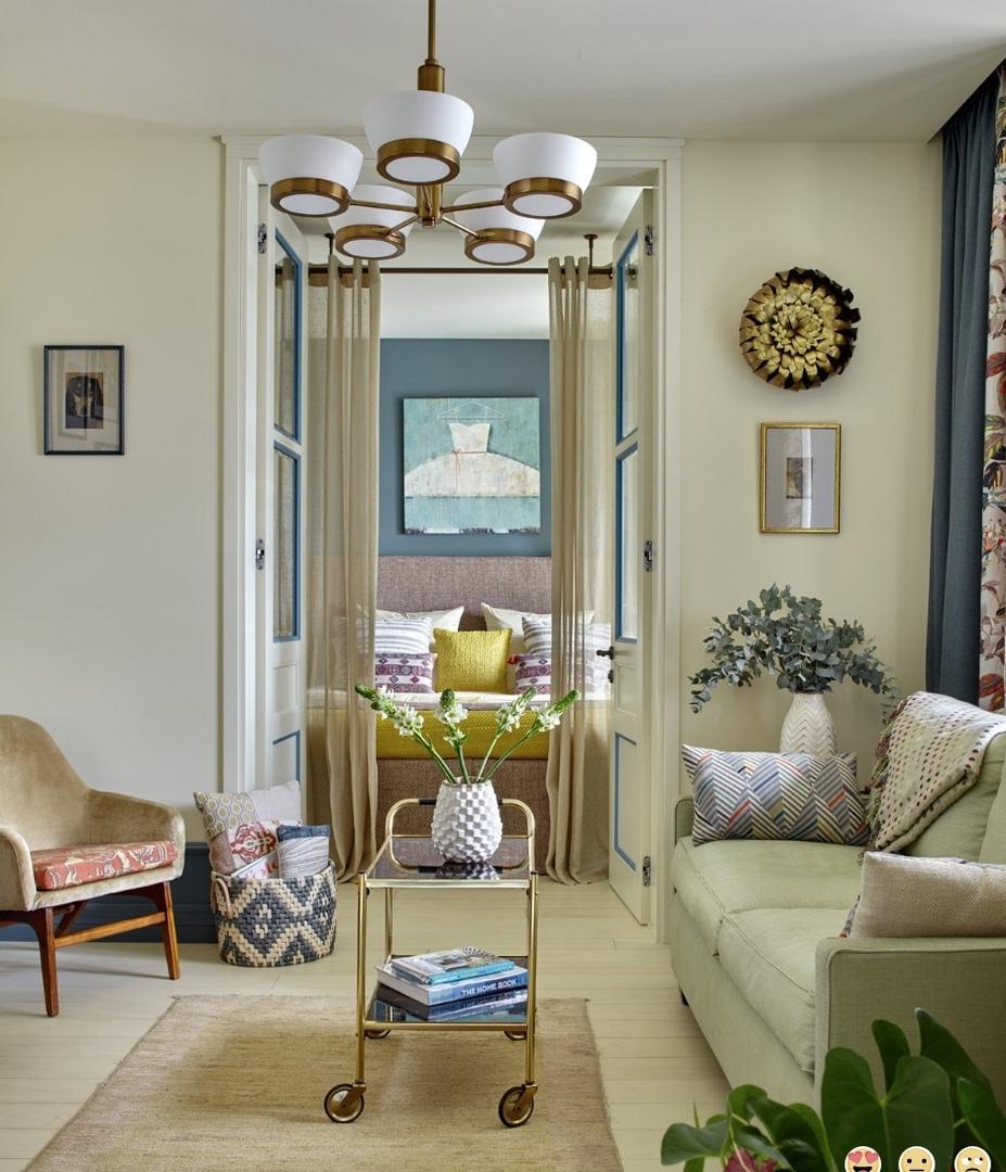 Дизайн интерьера 2-х комнатной квартиры (56 м2) от Натальи Митраковой.