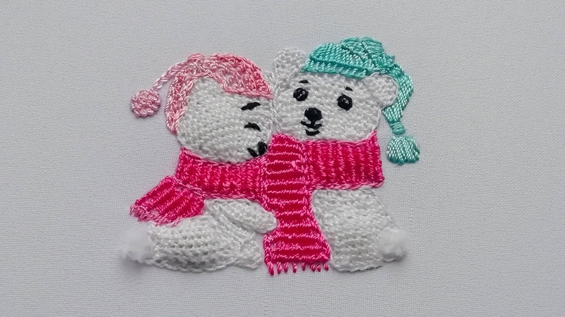 3D Embroidery Sweet couple Buttonhole Filling