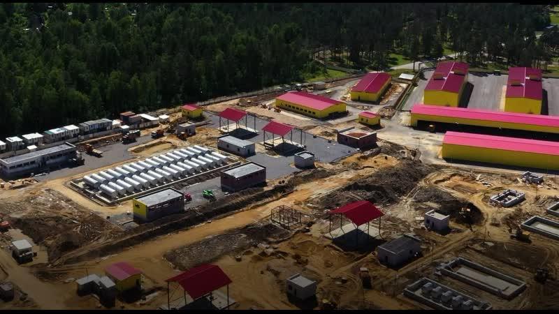 Строительство военного городка в Лемболово