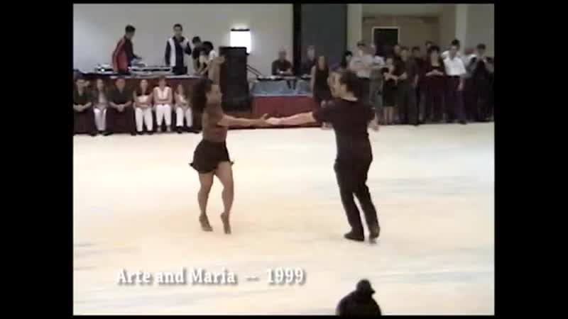Hustle exhibition dance by Maria Torres and Arte Phillips 1999 short version