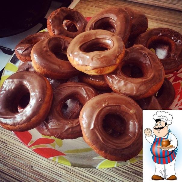 Нежные пончики без дрожжей.